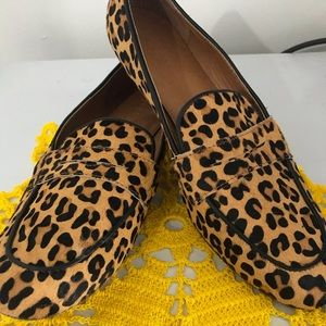J. Crew factory Calf Hair Leopard Loafers
